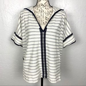 Madewell Elise Embroidered Hooded Tunic M/L